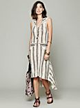 Striped Hooded Swit Dress