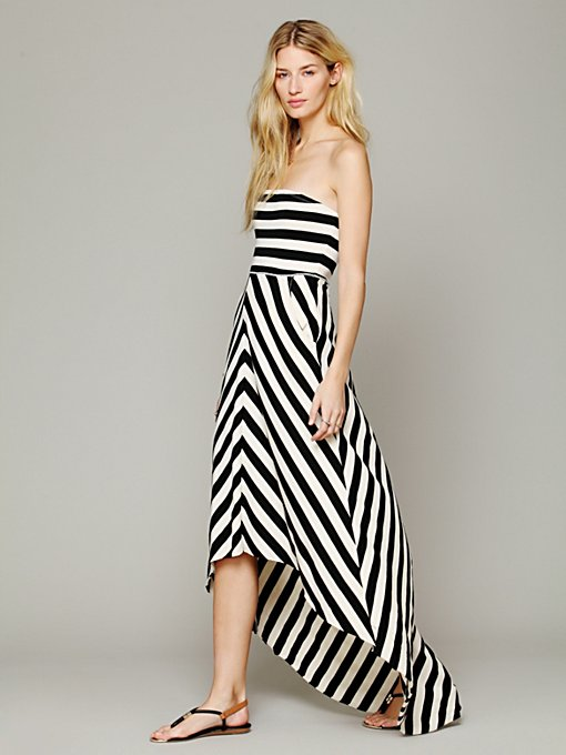 Kristal's Striped Maxi in clothes-FP-Beach