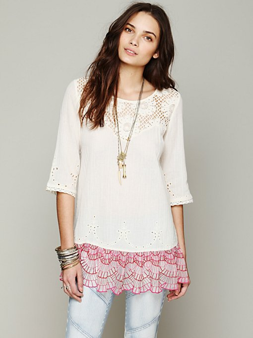 Springtime Lattice Tunic