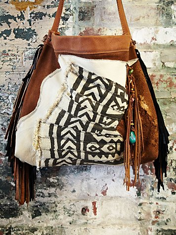 T Smith Knowles Vintage African Bogolanfani Bag #481