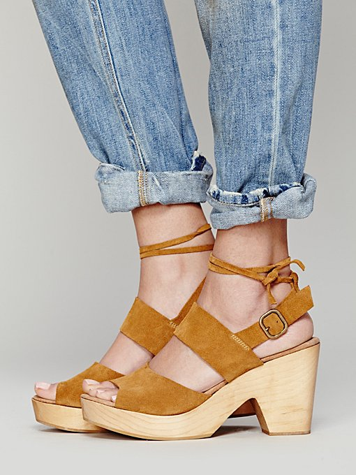 Free People Dover Suede Clog in Evening-Shoes
