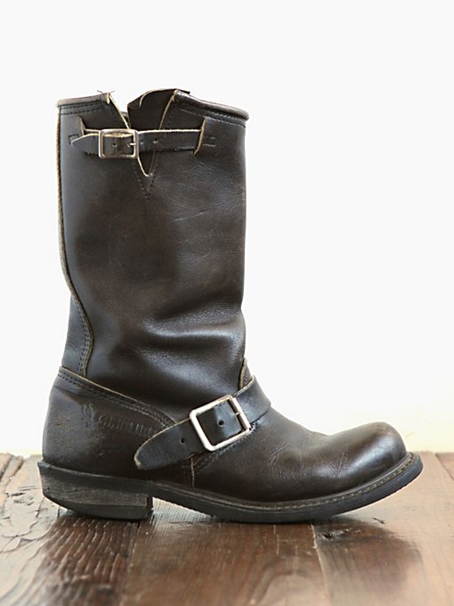 Free People Vintage Leather Engineer Boots in vintage-shoes