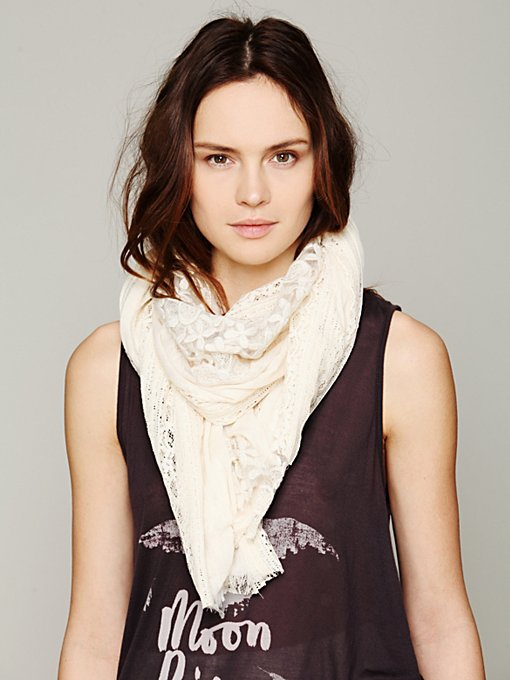 Pieced Lace Scarf in beach-scarves