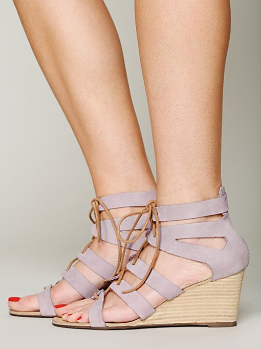 Free People Lace Cradle Mini Wedge in designer-sandals