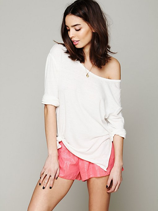 Lurex Stripe Hipster Shorts in sale-sale-under-70
