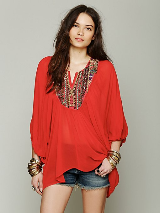 Free People All The Riches Oversize Tunic in knit-sweaters