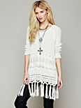 Hooded Fringe Pullover