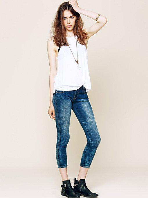 Iggy Crop Skinny Jeans in denim