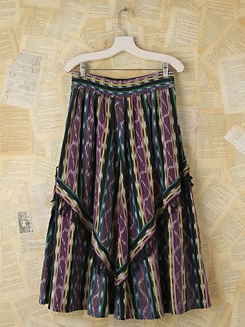 Vintage Patterned Woven Skirt