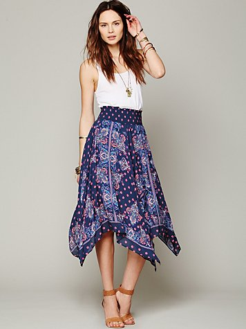 Free People Kaleidoscope Fly Away Skirt