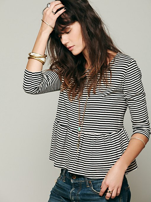 We The Free In A Line Peplum Tee
