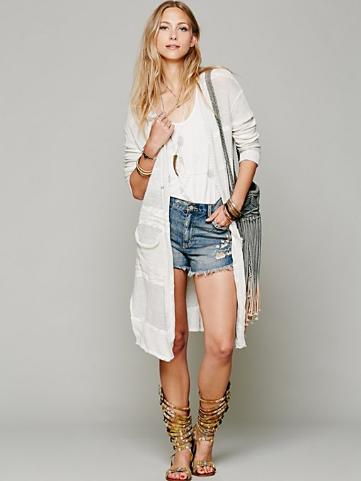 Free People Enraptured Slub Cardigan in knit-sweaters