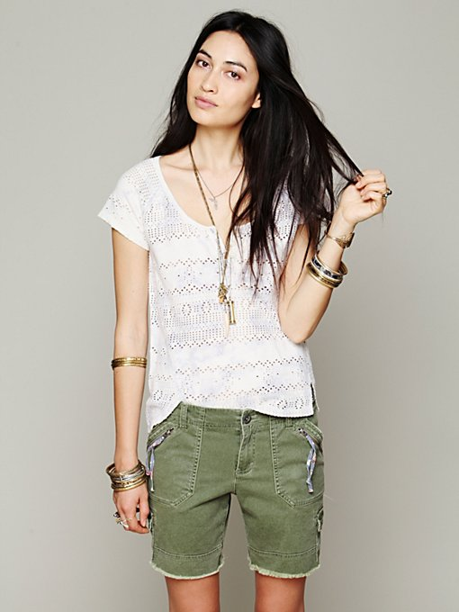 Free People Cargo Twill Short in Shorts
