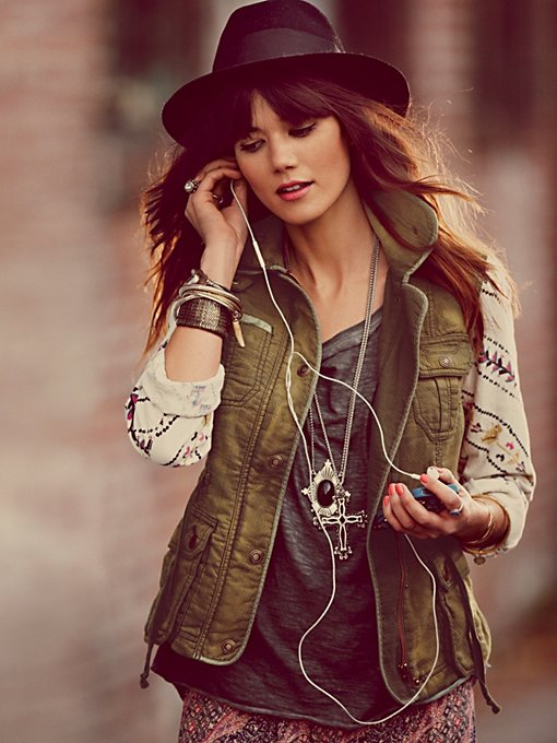 Free People Follow Your Heart Cargo Jacket in Jackets