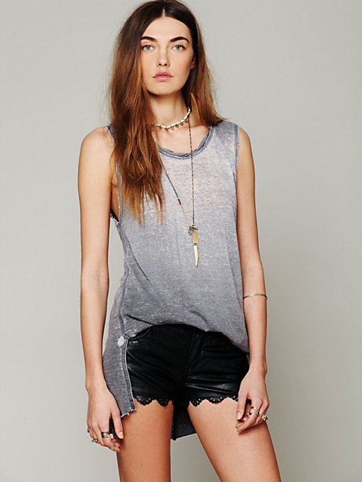 Blank Laser Hem Vegan Short in cutoff-shorts