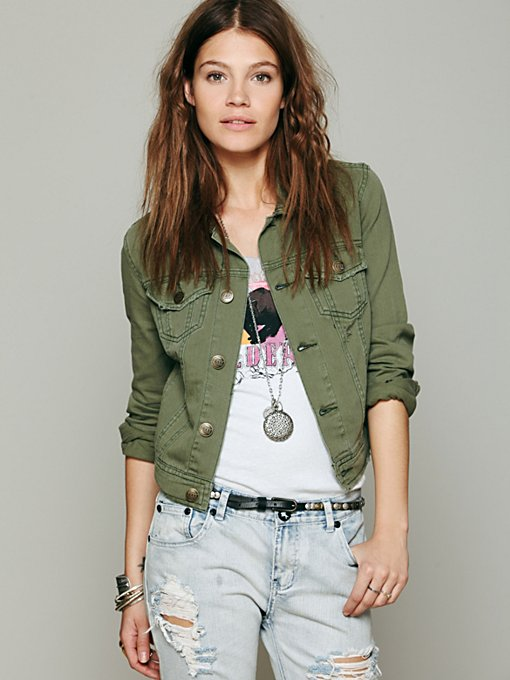 Free People Love Always FP Denim Jacket in Jackets