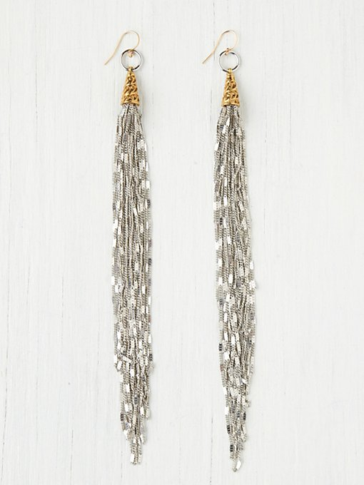 Vanessa Mooney Chain Fringe Earring in boutique-rings-earrings
