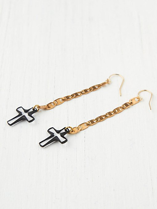 Vanessa Mooney Cross Drop Earrings in boutique-rings-earrings