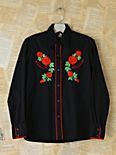 Vintage Floral Embroidered Shirt