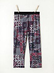 Printed Crop Legging in intimates-all-intimates