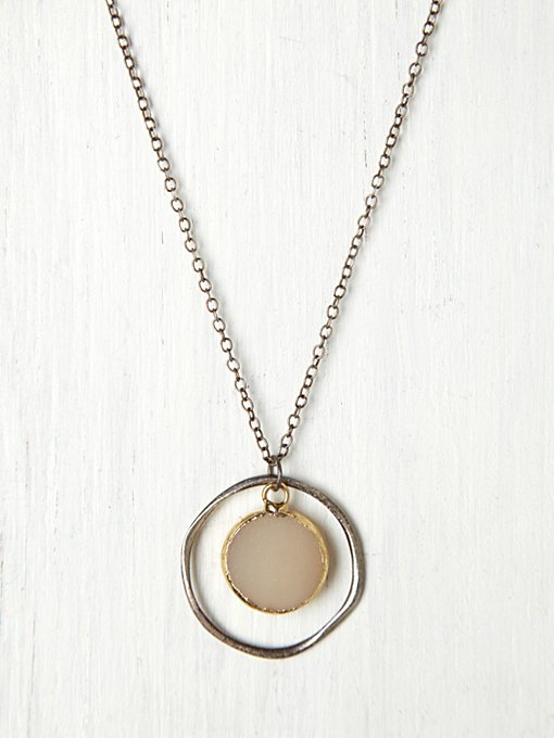 Mashka Stone Target Necklace in jewelry