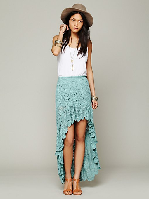 Nightcap Spanish Saloon Skirt in lace-skirts
