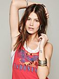 We The Free Lace & Stripe Graphic Tank