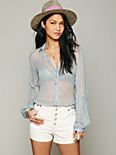 Sheer Dot Buttondown Shirt