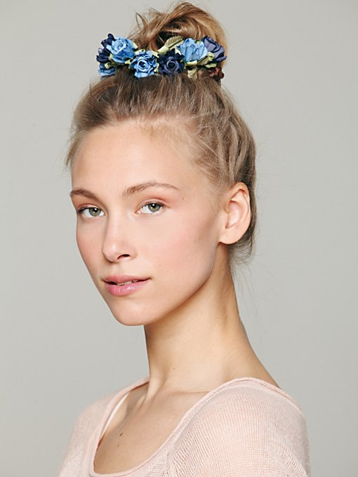 Bun Floral Crowns in Hair-Accessories