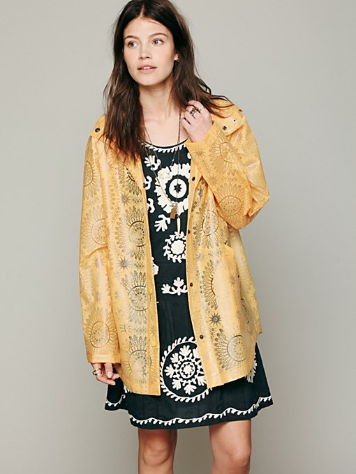 Spinning Circles Raincoat in structured
