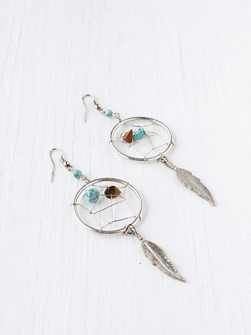 Feather Catcher Earring in dreamcatcher-jewelry