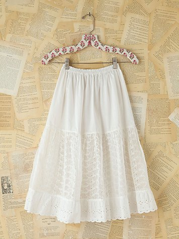 Free People Vintage Victorian Mid-Length Skirt