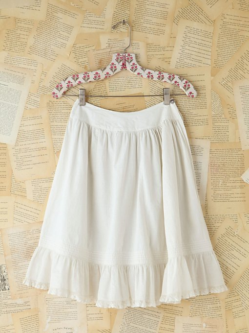 Free People Vintage White Cotton Skirt in vintage-skirts
