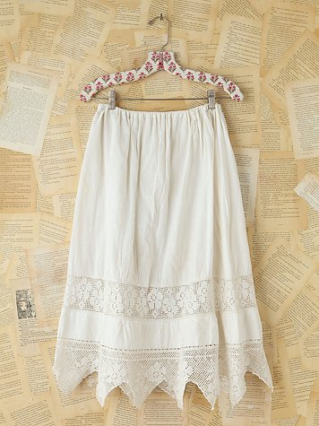 Vintage Victorian Cotton Skirt