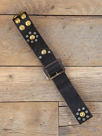 Free People Vintage Distressed Leather Studded Belt