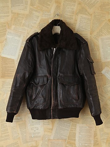 Vintage WWII Leather Bomber Jacket