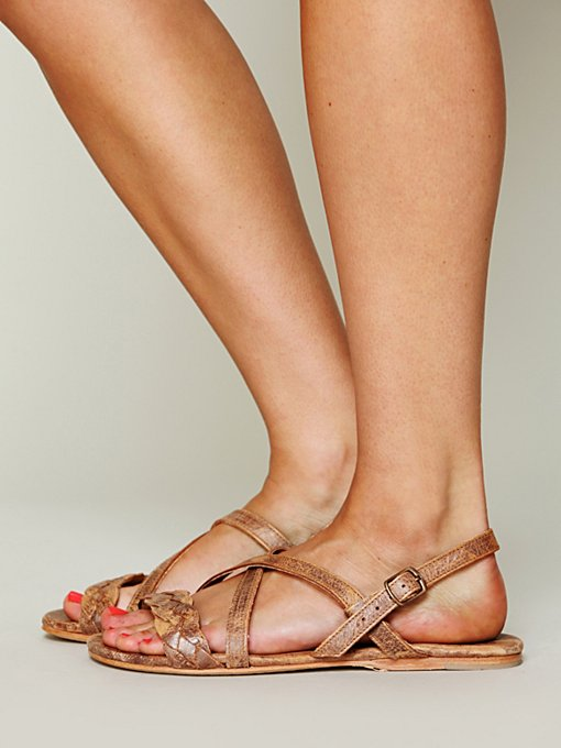 Kelsey Braided Sandal in shoes-sandals