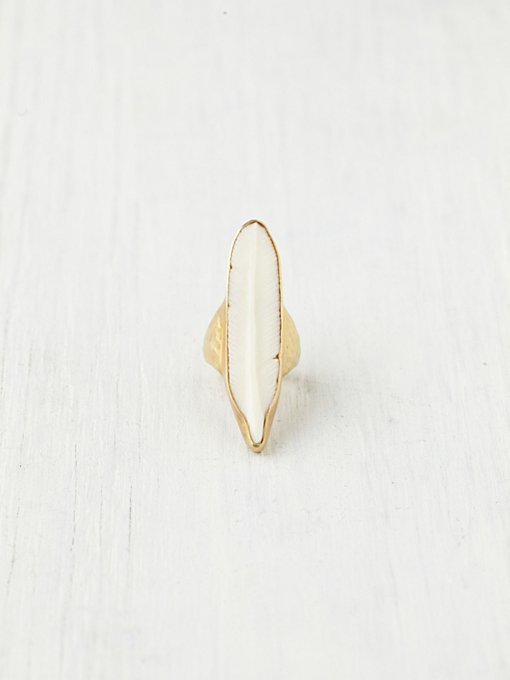 Horn Feather Ring in accessories-jewelry