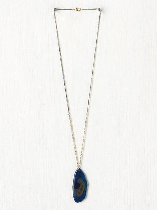 Ocean Stone Pendant in bohemian-necklaces