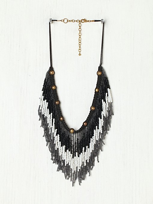 Ombre Fringe Collar in beach-jewelry