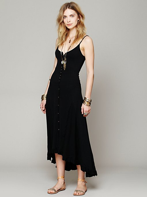 Solid Nice As Pie Dress in clothes-dresses-maxi