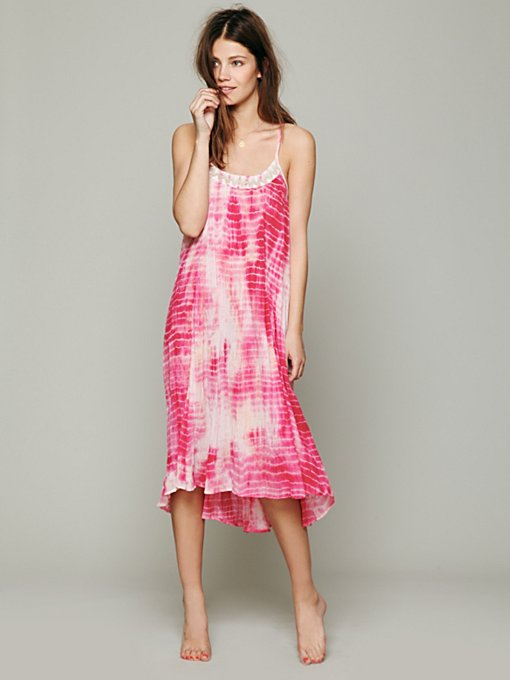 Free People Tie Dye Nightie in Dresses