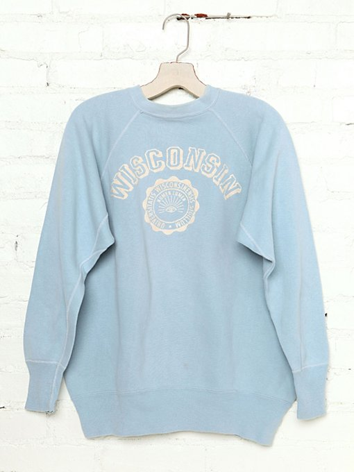 Free People Vintage Wisconsin Sweatshirt in Vintage-Tops
