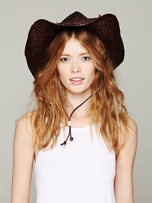 Raffia Cowboy Hat in accessories-hats-fedoras-caps