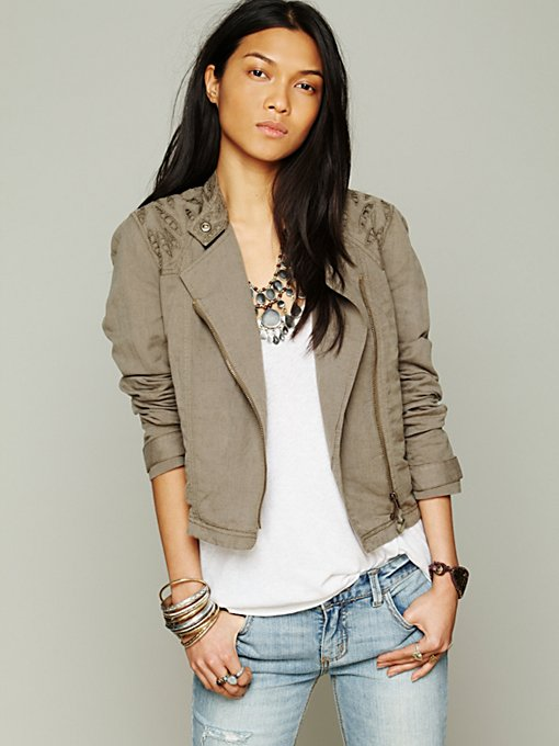 Cutouts In Linen Jacket in whats-new-back-in-stock
