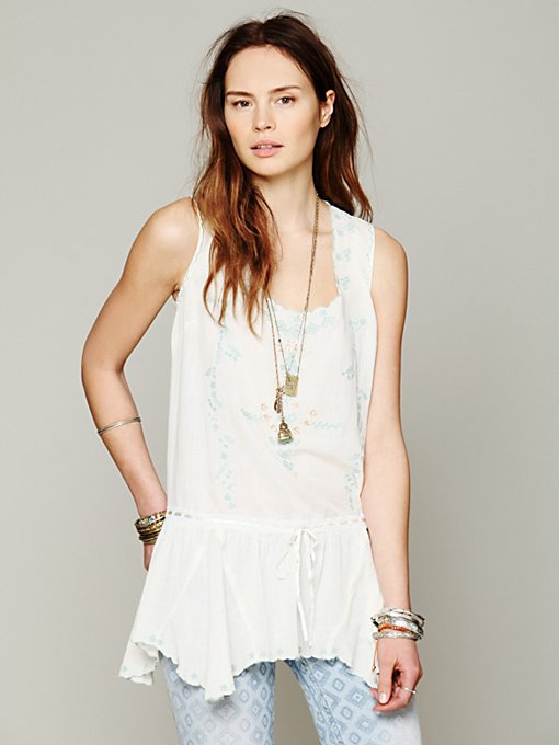 Free People Sleeveless Drawstring Tunic in blouses-2