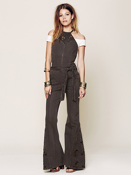 Free People Roxbury Jumpsuit in Jeans