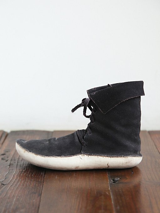 Free People Vintage Suede Moccasin Ankle Boot in vintage-shoes
