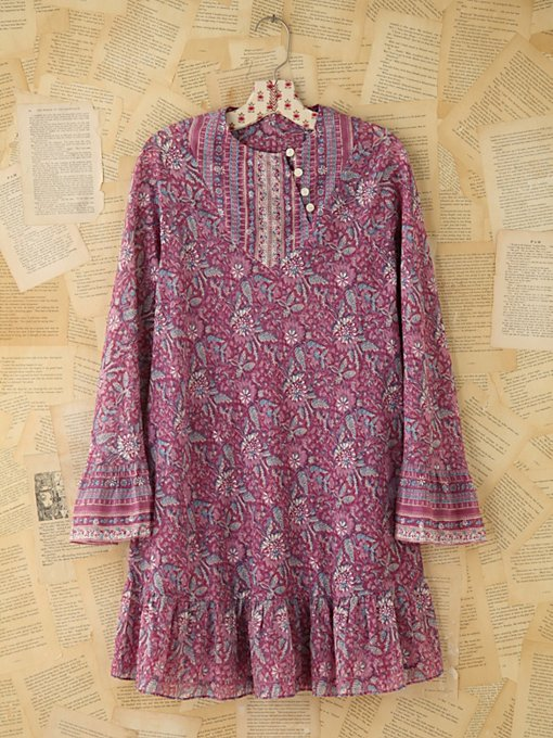 Vintage Purple Indian Print Dress in Vintage-Loves-dresses