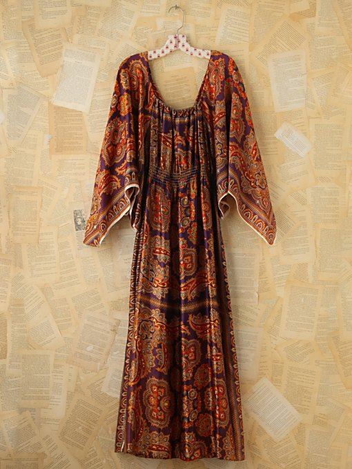 Free People Vintage Scarf Printed Dress in Vintage-Dresses
